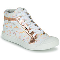 Shoes Girl High top trainers GBB LEOZIA White / Pink