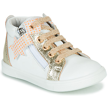 Shoes Girl High top trainers GBB VALA White / Gold