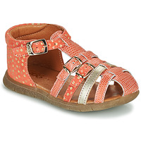 Shoes Girl Sandals GBB PERLE Coral / Gold