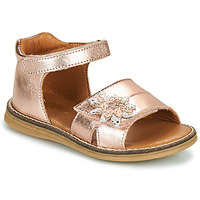 Shoes Girl Sandals GBB SATIA Vte / Gold / Pink / Vipera