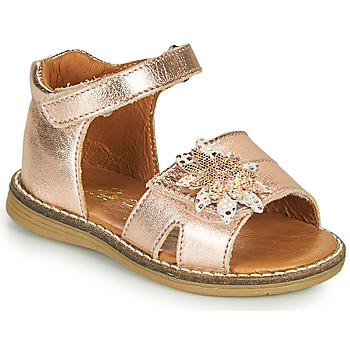 Shoes Girl Sandals GBB SATIA Pink / Gold