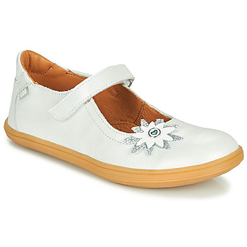 Shoes Girl Ballerinas GBB FANETTA Vte / White / Mother-of-pearl / Cuba