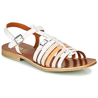 Shoes Girl Sandals GBB BANGKOK White / Orange