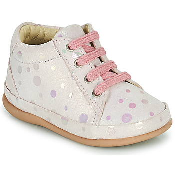 Shoes Girl High top trainers Little Mary GAMBARDE Pink