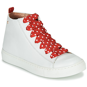 Shoes Girl High top trainers Little Mary SASHA (VE014) White / Red