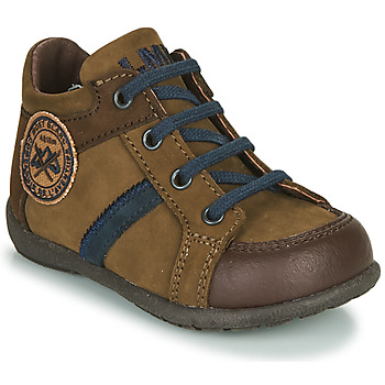 Shoes Boy Mid boots Little Mary COQUIN Brown
