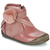 Shoes Girl Mid boots Little Mary FRANCOISE Pink