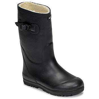 Shoes Children Wellington boots Aigle WOODY POP FUR Marine