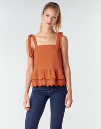material Women Blouses Betty London OULINE Rust