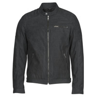 material Men Leather jackets / Imitation leather Jack & Jones JJEROCKY Black