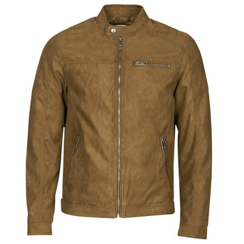 material Men Leather jackets / Imitation leather Jack & Jones JJEROCKY Cognac