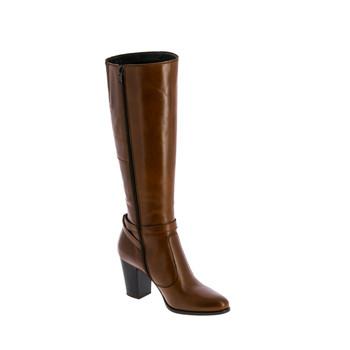 Shoes Women Boots André RUTH Cognac
