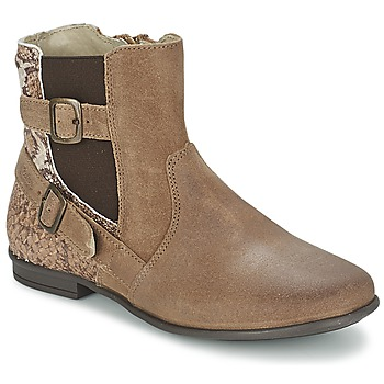 Shoes Girl Mid boots Aster DESIA Taupe / Printed