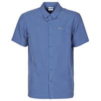 material Men short-sleeved shirts Columbia LAKESIDE TRAIL Blue