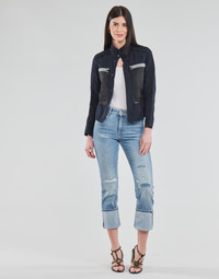 material Women straight jeans G-Star Raw NOXER HIGH STRAIGHT WMN Blue