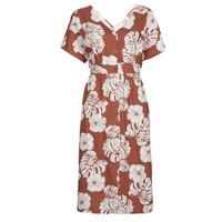 material Women Long Dresses Roxy SUNNY MEMORIES SLUB Brown