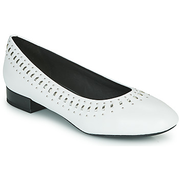 Shoes Women Ballerinas Geox D WISTREY White