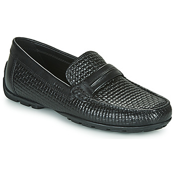 Shoes Men Boat shoes Geox UOMO MONER Black