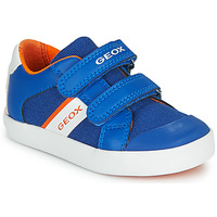 Shoes Boy Low top trainers Geox GISLI BOY Blue