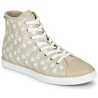 Shoes Girl High top trainers Geox JR CIAK FILLE Beige