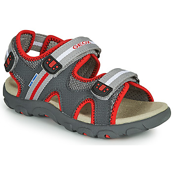 Shoes Boy Sandals Geox SANDALE STRADA Grey