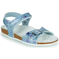Shoes Girl Sandals Geox J ADRIEL GIRL Blue