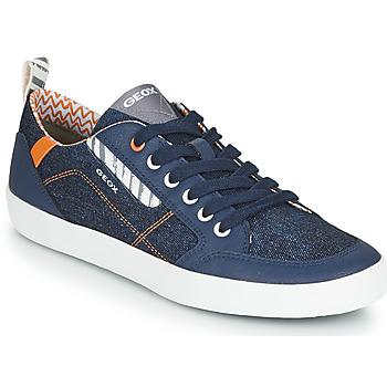 Shoes Boy Low top trainers Geox JR KILWI GARÇON Blue