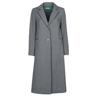 material Women coats Benetton  Grey