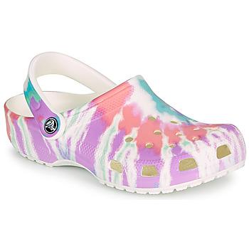 Shoes Women Clogs Crocs CLASSIC TIE DYE GRAPHIC CLOG Multicolour
