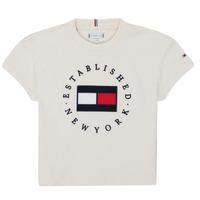 material Girl short-sleeved t-shirts Tommy Hilfiger KG0KG05503-Z00-J Beige