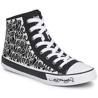 Shoes Women High top trainers Ed Hardy RESOUDRE Black / White
