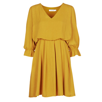 material Women Short Dresses Naf Naf  Yellow