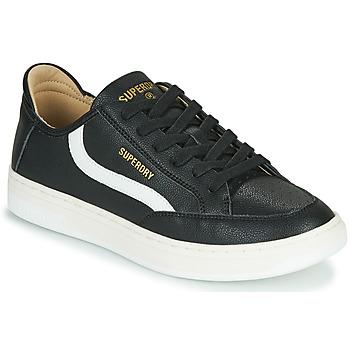 Shoes Men Low top trainers Superdry BASKET LUX LOW TRAINER Black