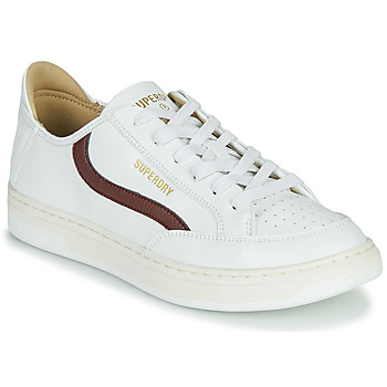 Shoes Men Low top trainers Superdry BASKET LUX LOW TRAINER White
