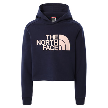 material Girl sweaters The North Face DREW PEAK CROPPED HOODIE Marine