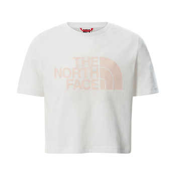 material Girl short-sleeved t-shirts The North Face EASY CROPPED TEE White