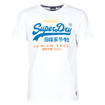 material Men short-sleeved t-shirts Superdry VL TRI TEE 220 White