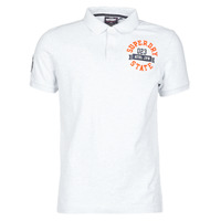 material Men short-sleeved t-shirts Superdry CLASSIC SUPERSTATE S/S POLO Grey