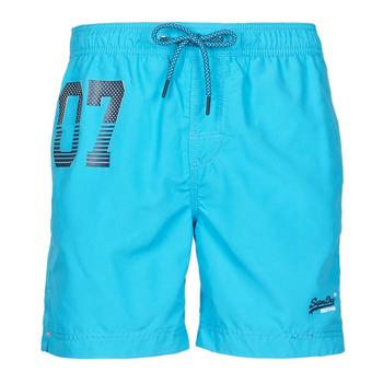 material Men Trunks / Swim shorts Superdry WATERPOLO SWIM SHORT Blue