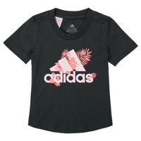 material Girl short-sleeved t-shirts adidas Performance TROPICAL BOS G Black