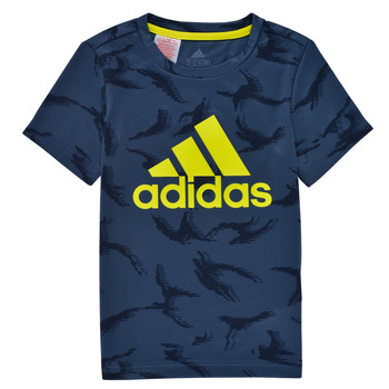 material Boy short-sleeved t-shirts adidas Performance B CAMO T Marine