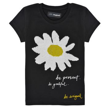 material Girl short-sleeved t-shirts Desigual 21SGTK28-2000 Black