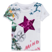 material Girl short-sleeved t-shirts Desigual 21SGTK42-1000 White