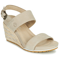 Shoes Women Sandals Timberland CAPRI SUNSET WEDGE Beige