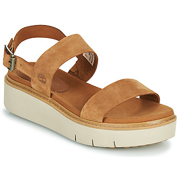 Shoes Women Sandals Timberland SAFARI DAWN 2BAND Cognac