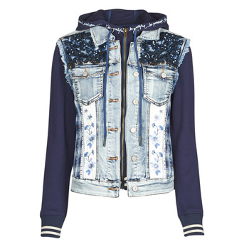 material Women Denim jackets Desigual TAMAR Blue