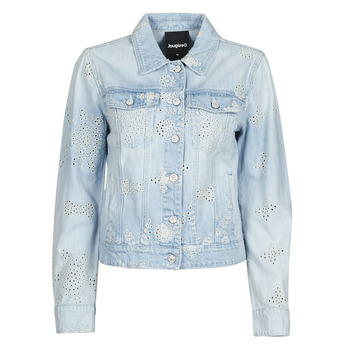 material Women Denim jackets Desigual CALM Blue
