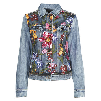 material Women Denim jackets Desigual BALT Blue