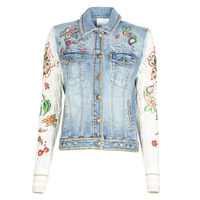 material Women Denim jackets Desigual ATHLAS Blue