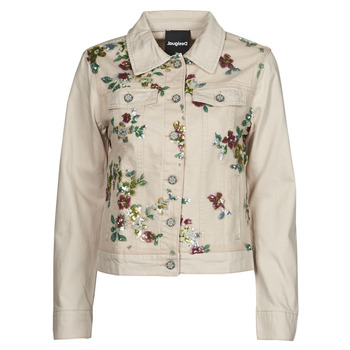material Women Denim jackets Desigual BRILLIGRIN Pink